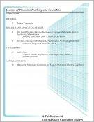 Journal of Precision Teaching cover